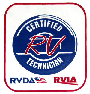Our service team consists of Certified RV Technicians