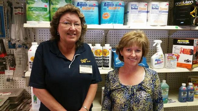 Our parts department, Linda and Wilma